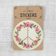 Stickers Love is Dog Peach Sign Floral