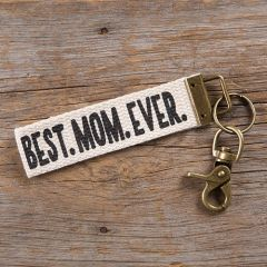 Canvas Key Fob | Best Mom Ever