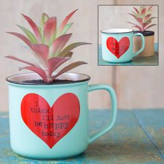 2in1 Mug Succulent Just Be Happy