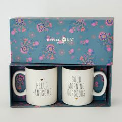 Set of 2 Mugs Gorgeous/Handsome
