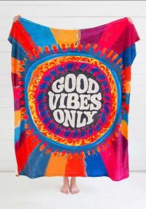 Cozy Blanket Good Vibes Only