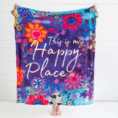 Fleece Κουβέρτα | Happy Place