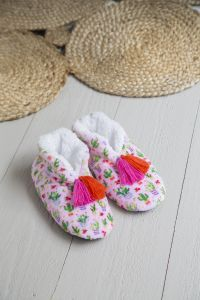 Cozy Slipper L Pink Cactus