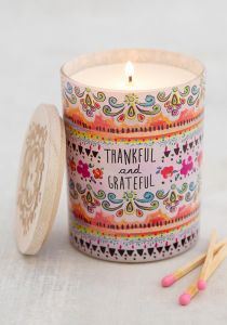 Soy Candle Thankful & Grateful