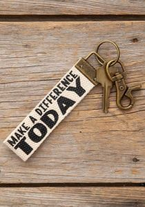Canvas Key Fob | Make A Difference