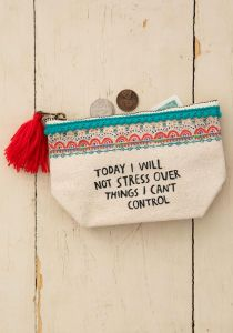Mini Canvas Pouch I Will Not Stress