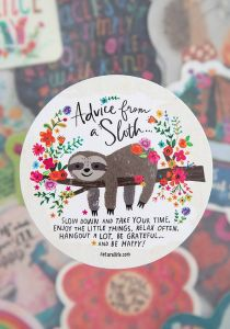 Sticker Advice from a Sloth