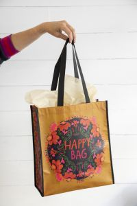 Happy Bag XL Mustard Pink Floral