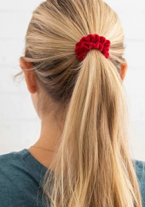 Velvet Scrunchies Red/Pink
