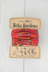 Boho Μπαντάνα Red Hearts Rows