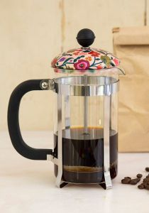 French Press Cream Floral