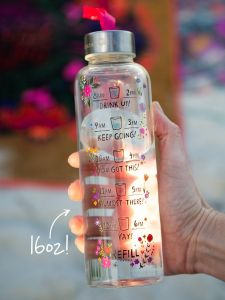 Glass Water Bottle | Drink Up
