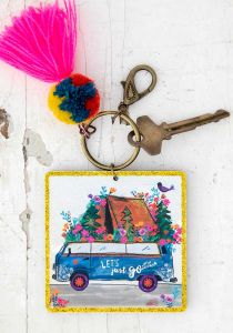 Chirp Keychain Let's Just Go