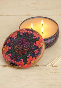 Candle Tin Enjoy Little Things