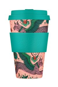 Bamboo Cup With Lid Lynx