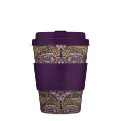 Bamboo Cup With Lid Peacock
