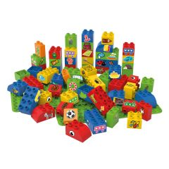 Educational Blocks with 2 Baseplate Boys